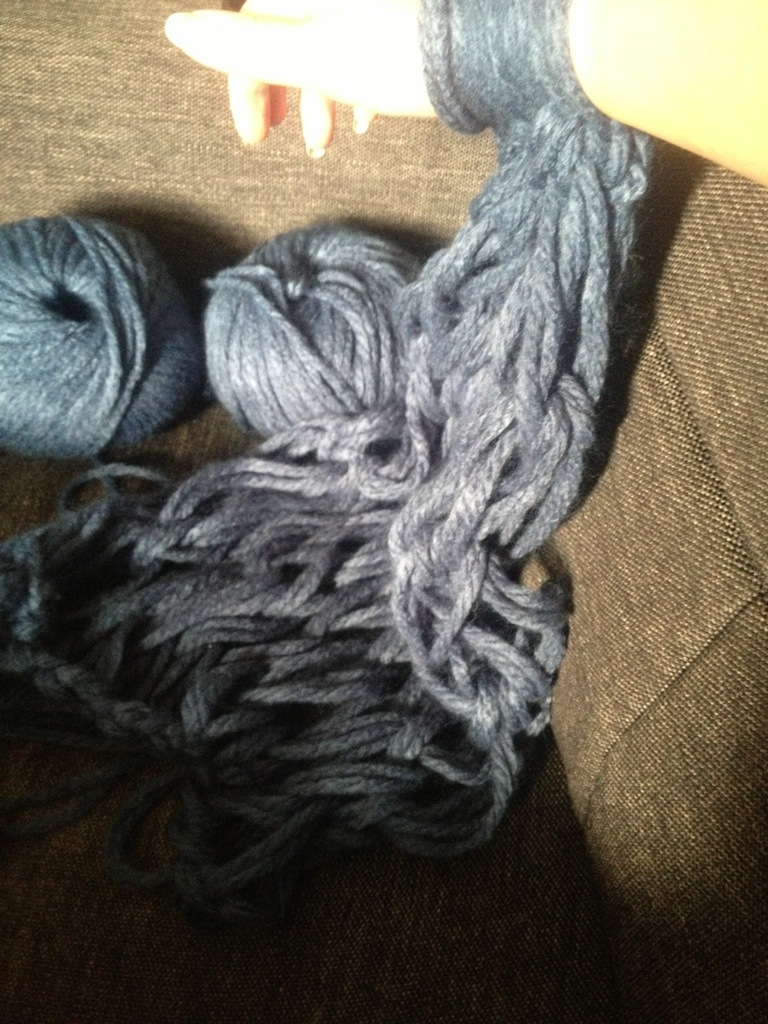 Knitting With Your Arms Instructions : Arm knitting or keeping yourself out of trouble for an